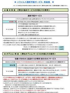 トラヘル・ハワイ料金改定<2019秋>