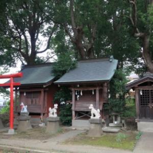 【犬狼物語 其の三百八十九】 埼玉県さいたま市 根岸・神明神社の狼像?犬像?狐像?