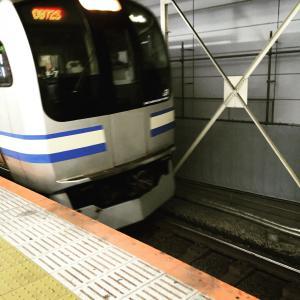 横須賀線で新橋へ 銀座中央通り