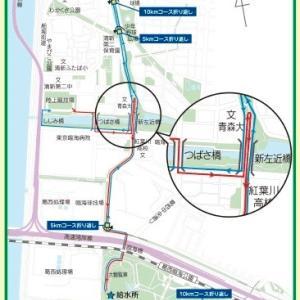 今週は江戸川マラソン。
