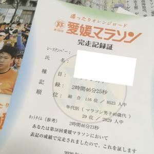 愛媛マラソン〜レース後とか打ち上げとか。