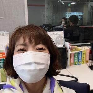 マスクでオンエア♪