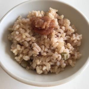 久しぶりに玄米炊きました