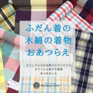 ふだん着の木綿の着物のおあつらえ~持っていると便利な無地っぽい柄