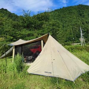 夏キャンプの朝!