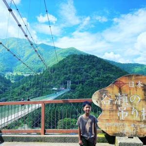 夏の暑さも吹っ飛んだ!十津川村の「谷瀬のつり橋」