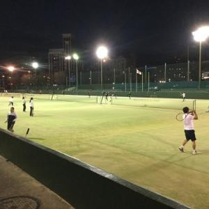 水曜日の美萩野テニスは抽選がすごい