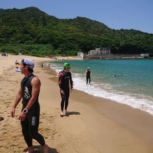 6月〜スポーツクラブ再開 スイム練習 福岡のトライアスロンチームは海へ