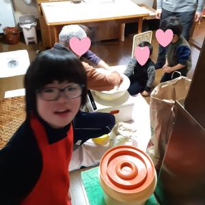お餅つきの日☆