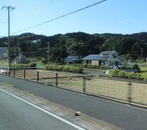 松崎行きバス車中から、あれ??