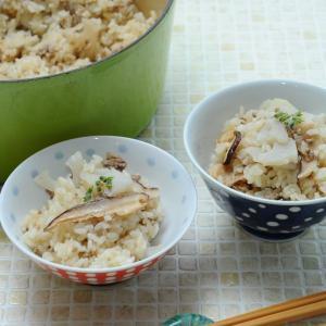 ☆優しいお出汁。レンコンと干しシイタケの炊き込みごはん☆