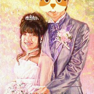 結婚式のお姿肖像画 完成