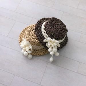 エコアンダリヤ・クロッシェで お人形の帽子編み^^