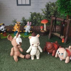 今日の poi&lndy 人形遊び^^