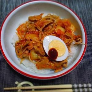 ◆豚キムチ丼