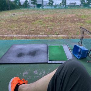 ワクチン休暇の今日は打ちっ放しゴルフに行ってきました