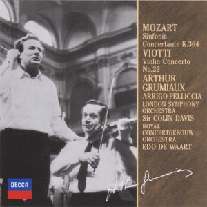 グリュミオー、ペリッチャのモーツァルト協奏交響曲k.364