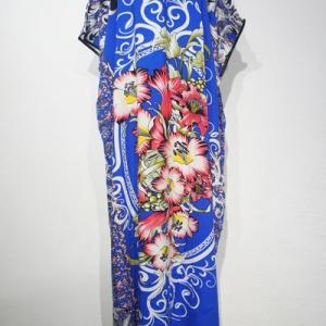トロピカル柄ののポンチョ風ガラベーヤドレスが入荷