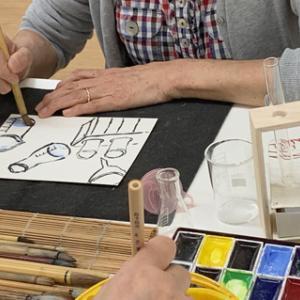 色のお勉強・9「透明」+きりんTシャツブロジェクト進行中!