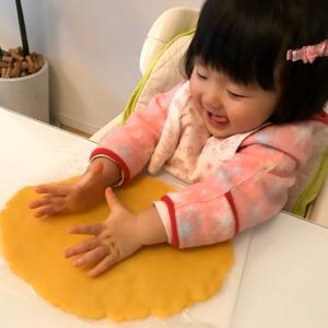 子供の手形クッキー作ったよ♡
