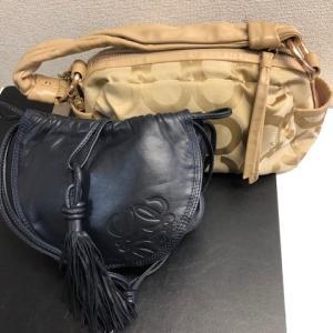 コーチ ロエベ バッグ ブランドをお買取りさせて頂きました!