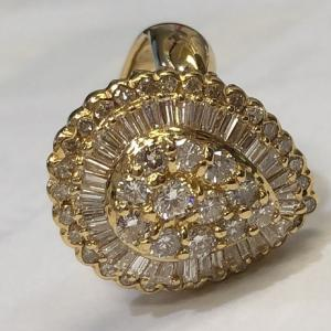 ダイヤ付きリング ダイヤ 貴金属 宝飾品をお買取りさせて頂きました!