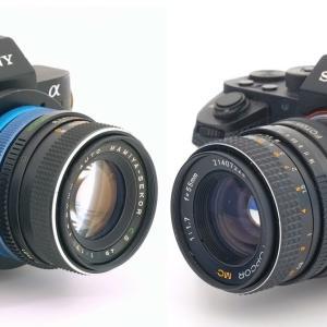 TOPCON AM/RE TOPCOR 55mm F1.7 and MAMIYA-SEKOR CS 50mm F1.7