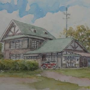 絵「鞠生のトトロの家?」