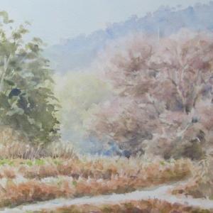 近場のスケッチ今昔№89「春待つ森」