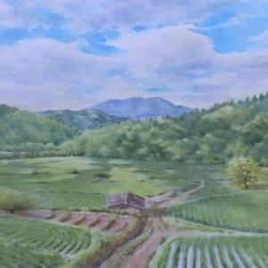 水彩お絵描き思い出めくり№169「雲影」
