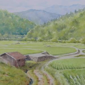水彩お絵描き思い出めくり№170「久兼農道」