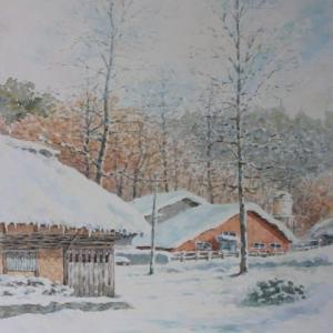 水彩お絵描き思い出めくり№198「白い静寂2」