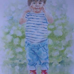 水彩お絵描き思い出めくり№202「赤い靴」