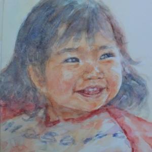 水彩お絵描き思い出めくり№208「RIOちゃん1」