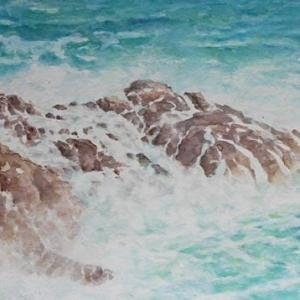 絵「波」(フェースブックのカバー写真更新)