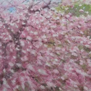 絵「桜吹雪」(練習作)