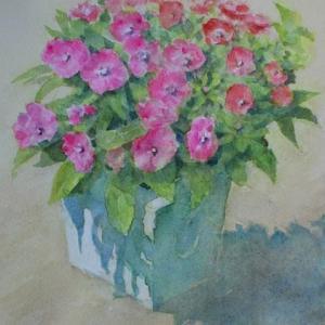 水彩お絵描き思い出めくり№235「夏花2」