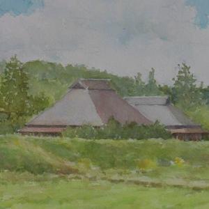 水彩お絵描き思い出めくり№240「田舎」