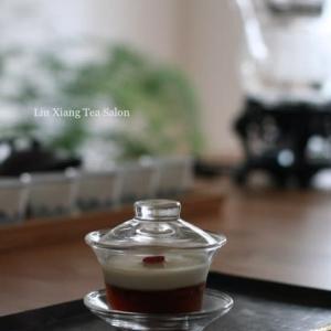 宜興紅茶ゼリーに点心と顧渚紫筍紅茶