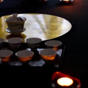 中秋節の茶席〜灯りが映える茶席