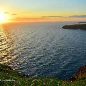 6月のゴロタ岬からの夕陽