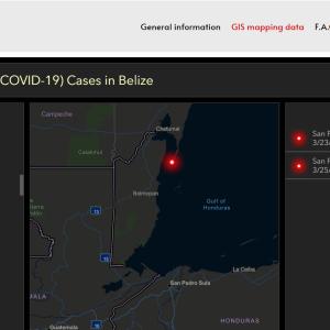 ベリーズにおけるコロナウィルス・COV-19の状況