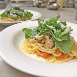 あさりとルッコラのレモンパルミジャーノのスパゲティ~♪