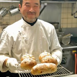 きんかんとクルミ、レーズンのライ麦パン~♪