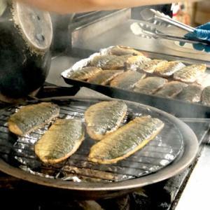阿部さんのご主人が釣ったムロアジ、燻製にしましたよ~♪