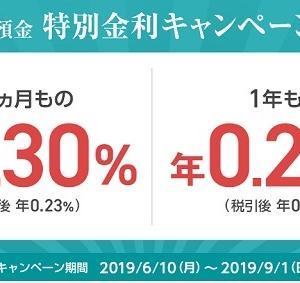 住信SBIネット銀行 満期3ヵ月・0.30%、満期1年・0.20%の定期預金キャンペーン実施中