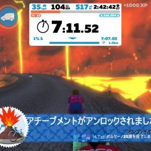 5/23 バミュ練でVolcanoサーキット25周!110㎞・3時間