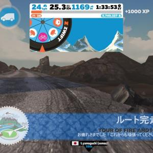 6/14 Zwift2時間@Tour of Fire and Ice