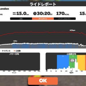 5/13 Zwoft25分@つなぎ練習