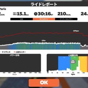 6/10 Zwift30分@つなぎ練習